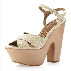 Sam Edelman Corbin Snake Print Platform Sandals